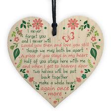 Mum Dad Nan Graveside Memorial Remembrance Heart Cemetery Garden Grave Sign