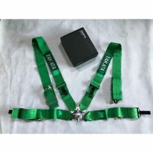 "Takata 4 Point Snap-On 3"" Camlock Racing Seat Belt Harness Universal Green"