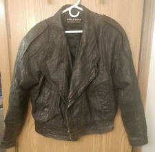 Wilsons Distressed Black Leather Jacket Size L 20+ Years Old