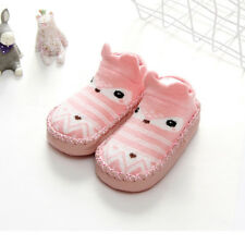Infant Baby Girls Boys Soft Socks Shoes Prewalker Anti-slip Boots Slippers 0-18M