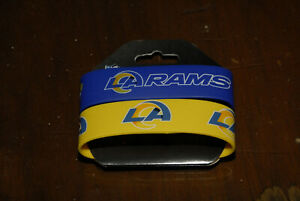 Los Angeles Rams wristbands set of two new gold blue bracelets NFL mint official