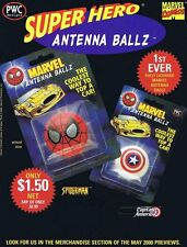 Marvel Antenna Ballz Original Retailer Sell Sheet Unused May 2000 Marvel NOS CGC