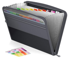 Actfaith Expanding File Folder With Zipper Closure 13 Pockets Expan Accordion
