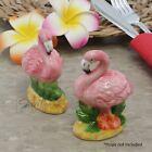 Flamingo Ceramic Salt & Pepper Shakers Set Pink Flamingo Collectible Shakers