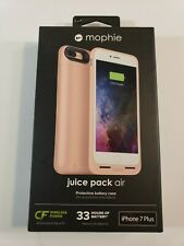 Mophie Juice Pack Air 33 Extra hrs For iPhone 7 Plus 8 Plus Rose Gold Case New