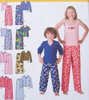 Boy Girl 3-6 Sleepwear Pajama Pants Knit Shirt Tank Top Simplicity 3669 Pattern