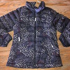 PATAGONIA dk blue patterned down sweater jacket! /Girls XL/FSNN/NWT