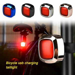 Bike Rear Light Rechargeable Waterproof Night Warn Cycling Riding Taillight USB