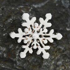 18k White Gold Estate Diamond Snow Flake Pin/Brooch