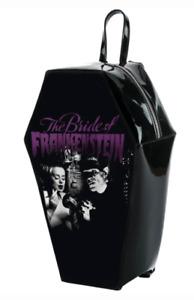 Horror Rock Rebel Universal Monster Purse Bride Frankenstein Coffin Backpack
