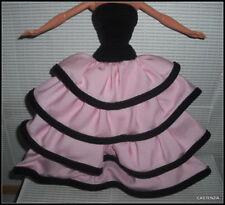 Dress Barbie Doll Mattel Escada Black Velvet Pink Layered Evening Gown Accessory