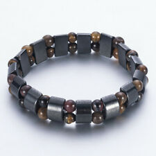 Black Hematite Stone Bead Stretch Bracelet Healing Magnetic Therapy Weight Loss