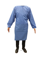Washable Reusable Medical Gown - 85 GSM Surgical Isolation Gowns w Cuffs Level 2