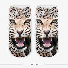 3d Unicorn Print Men Women Casual Low Cut Socks Cotton Animals Pattern Socks Tiger