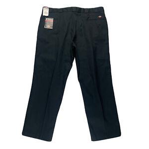 Dickies 874 Original Fit Work Pants Mens 50x32 Black Straight Leg Center Crease