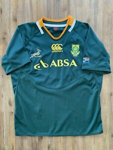 CANTERBURY Size 2XL South Africa Rugby Springboks Team Jersey Men's DEC64