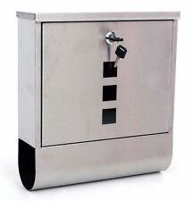 Large Lockable Mailbox Postbox Outside Mail Post Letter Box Wall Mounted Steel