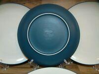 "SET OF 4 - NORITAKE - COLORWAVE BLUE - 10 1/2"" STONEWARE DINNER PLATES - 8484"