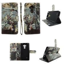Folio Wallet Case for LG G Vista 2 Split Leather Card Id Slots Cover Inner Style