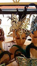 "MIRROR Head-Dress/ Piece BUTTERFLY ""LADY GAGA"" Clothes Brazilian SAMBA Carnival"