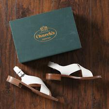 Church's Rhonda Flat White Calf Leather Sandals - Women's 39.5 EU (9.5 US)