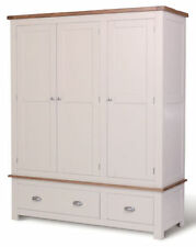 Solid Wood Country Wardrobes with 3 Doors