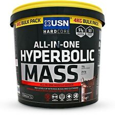 USN Hyperbolic Mass 6kg High Calorie Weight Gain Protein Powder Shake & Sample!