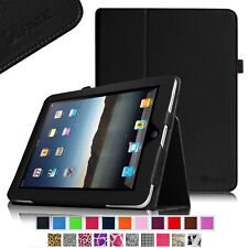 NEW Folio Leather Case Cover For iPad 1 1st Gen Original Generation Card Stand