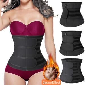 Men Womem Waist Trainer Sauna Sweat Belt Tummy Control Girdle Slim Body Shaper