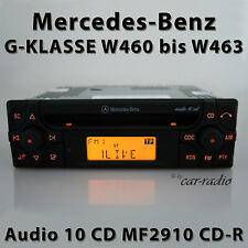 Original Mercedes Audio 10 CD MF2910 CD-R Autoradio G-Klasse W460 bis W463 Radio