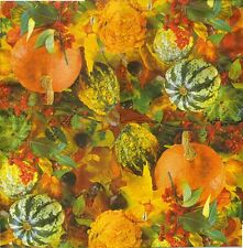 2 Serviettes en papier Automne Citrouille Paper Napkins Pumpkins Autumn