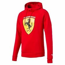 NWT Puma Ferrari Men's Premium Sweater Big Shield Hoodie *Red SZ: LARGE MSRP $90