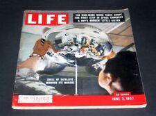LIFE MAGAZINE JUNE 3 1957 SHELL OF SATELLITE MIRRORS