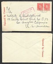 Australia WWII Censored Cover - Passed by Censor V23 Box Cancel