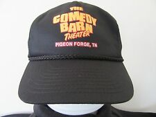 Vintage Black Snap-Back Hat The Comedy Barn Pigeon Forge Tennessee Trucker Cap