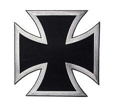 Choppers Cross Black Silver Large Back Vest Embroidered Patch Iron Sew PWPM5065