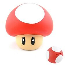 Super Mario Mushroom 9cm Coin Piggy Money Bank Figure Red