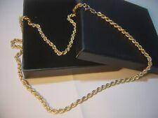"""Vintage 9CT Collar de Oro Cuerda-Lovley Diseño-Fabuloso Calidad 18"""" - perfecto - 4 Gram"""