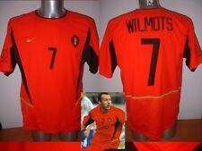 Belgium Wilmots Shirt Jersey Football Soccer Adult L Vintage 2002 Trikot Maglia