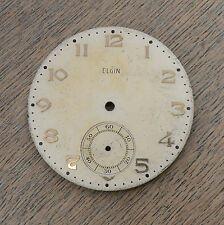 Vintage Elgin Pocket Watch Dial Part Spare Big Gold Numbers Sub Dial 37.72mm