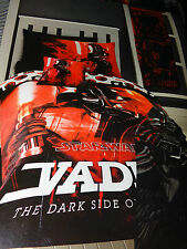 Single Bed Star Wars Darth Vader Licence Quilt Doona Cover Set Pillocase