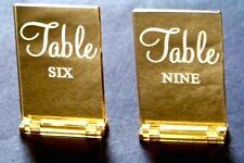 """Wedding Table Numbers 6""""x4"""" SETS Rectangular Gold Silver Acrylic by VividLaser"""