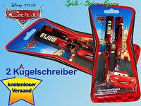 2 Stück Disney Cars Kugelschreiber, Lightning McQueen u Hook / Disney Cars 2