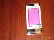 Silicone Skin Case compatible Apple iPod touch 4th Gen Clear PINK Diamond