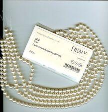 12 Swarovski Crystal perlas 8mm 5810 Crema Rosa Luz