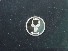 1 GRAM .999 SILVER GONE HUNTING ROUND COIN FOR RIFLE BOW BUCK DEER REMINGTON