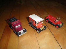 LOT OF THREE DAYS GONE, TRUCKS, BY LLEDO, MADE IN ENGLAND,FIRE TRUCK, RAILWAY