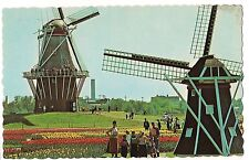 WINDMILL ISLAND De Zwaan Mill HOLLAND  MICHIGAN MI Postcard Flowers Gardens