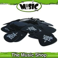 10 x Ernie Ball Thin Black Guitar Picks - .46mm Gauge Plectrums - New