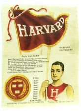 C.1910 Harvard University College Mascot Cheer Tobacco Silk Vintage Original